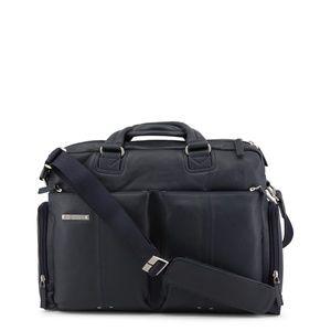 Piquadro Mens Briefcase Blue Leather